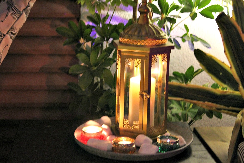 Moroccan lantern and candles