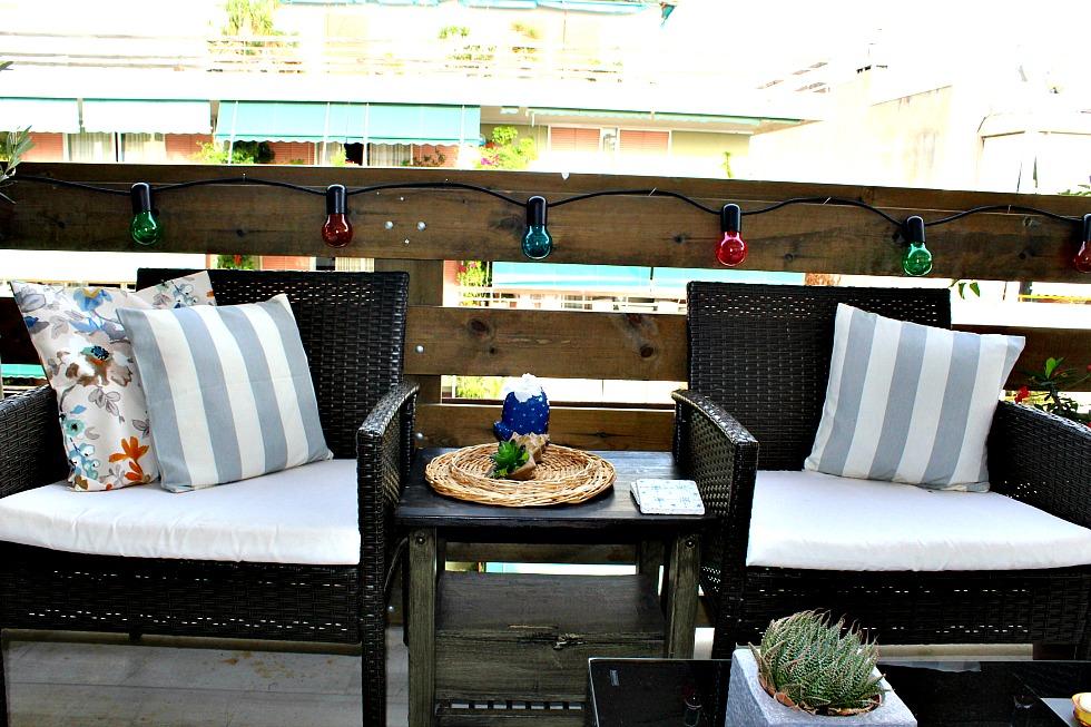 Ανακαίνιση βεράντας στο καινούργιο σπίτι, Outdoor sitting area