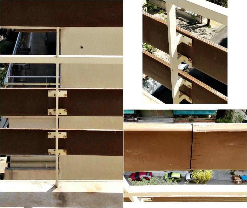 Ανακαίνιση βεράντας στο καινούργιο σπίτι, χαλασμένα ξύλινα κάγκελα