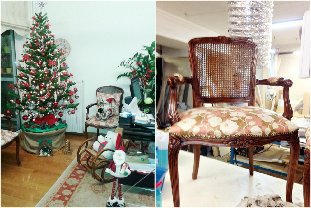 Old french cane chairs