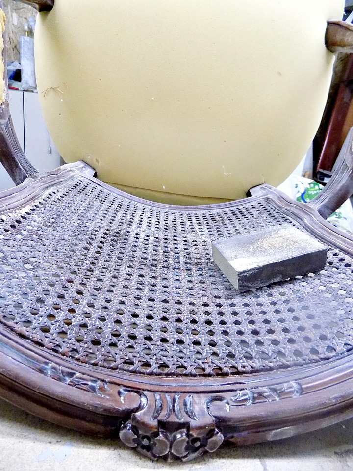 How to sand the back of a chair