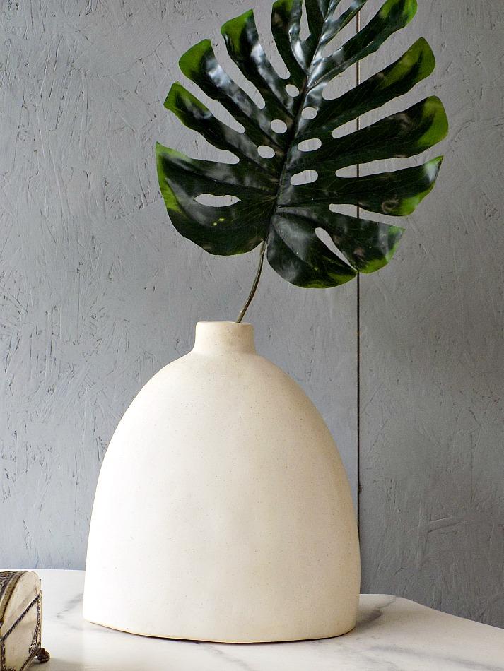 White stone modern vase