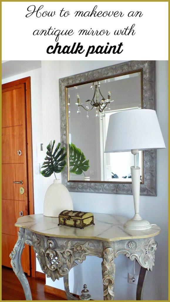Μεταμόρφωση καθρέφτη με μπογιά κιμωλίας | How to makeover an antique mirror with chalk paint
