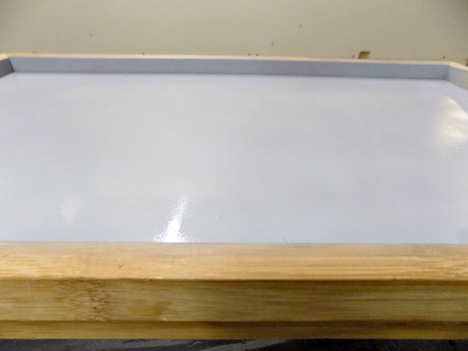Primer on wooden surface
