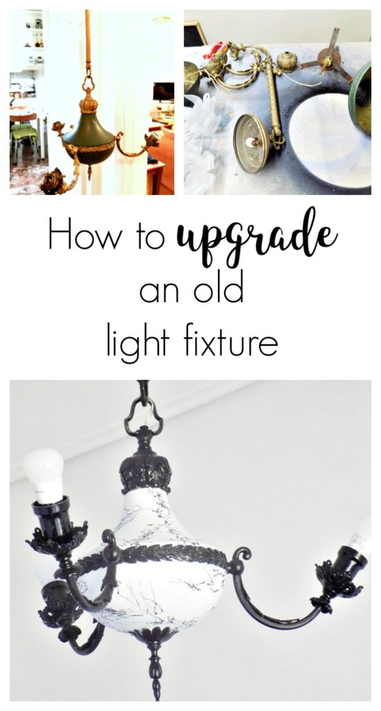 Πως να κάνεις μία αναβάθμιση ή μεταμόρφωση σε ένα παλιό φωτιστικό που δεν σου αρέσει πια αλλά είναι κομψό και λυπάσαι να το πετάξεις | How to upgrade an old light fixture
