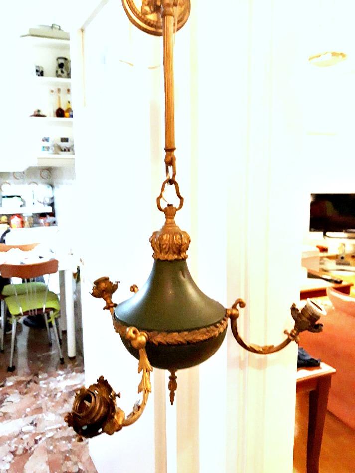 Old mid-century light fixture