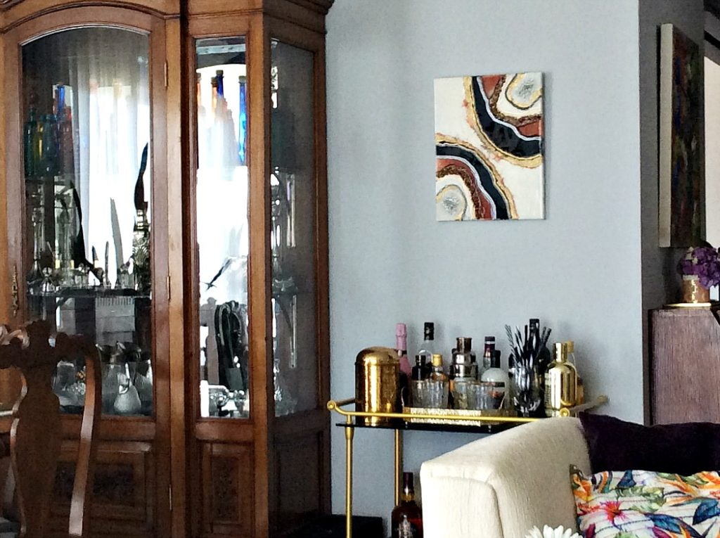 Φέτες αχάτη στον τοίχο | Resin wall art diy