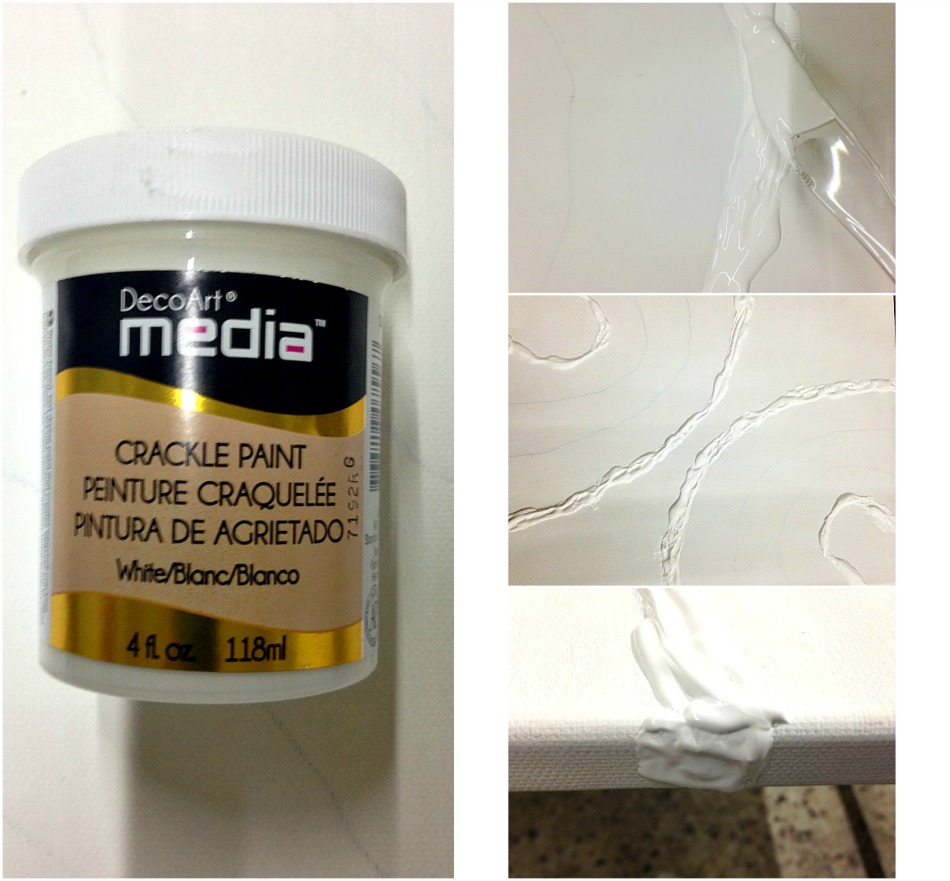 How to apply crackle paint on a canvas