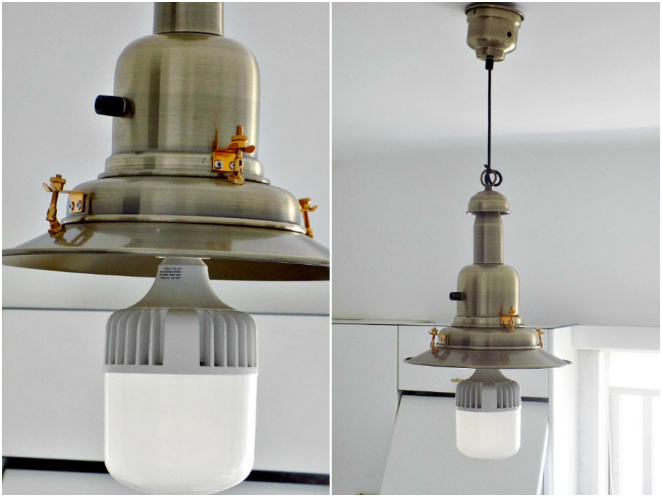 Brass kitchen lighting