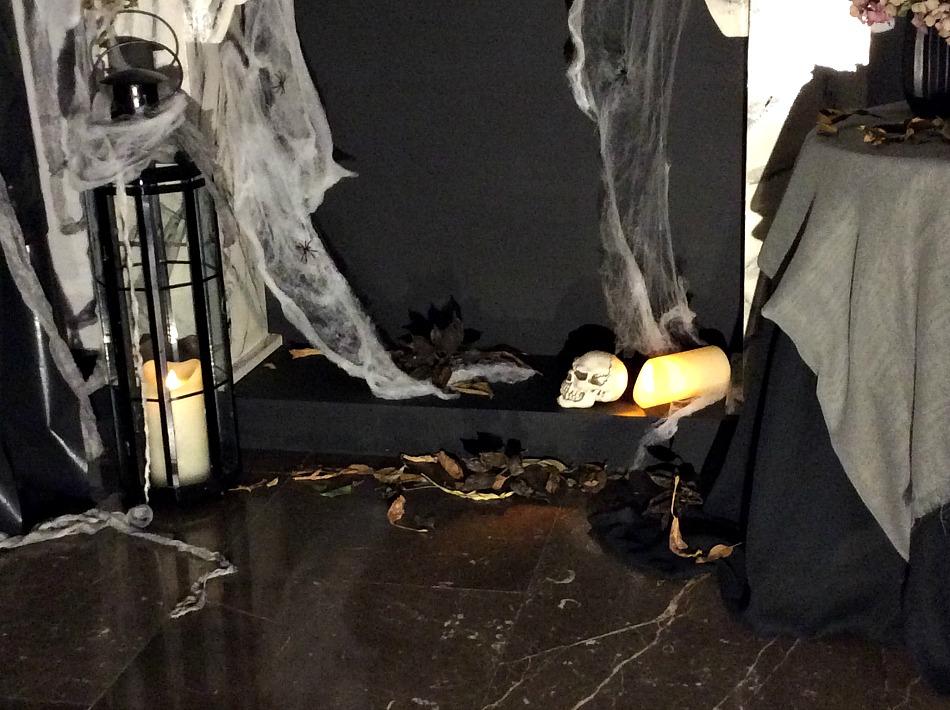 Ιδέες διακόσμησης για ένα Halloween πάρτι, διακόσμηση τζακιού
