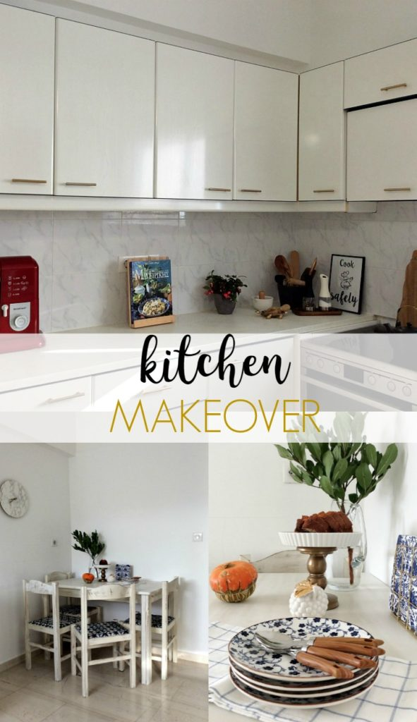 White elegant kitchen makeover