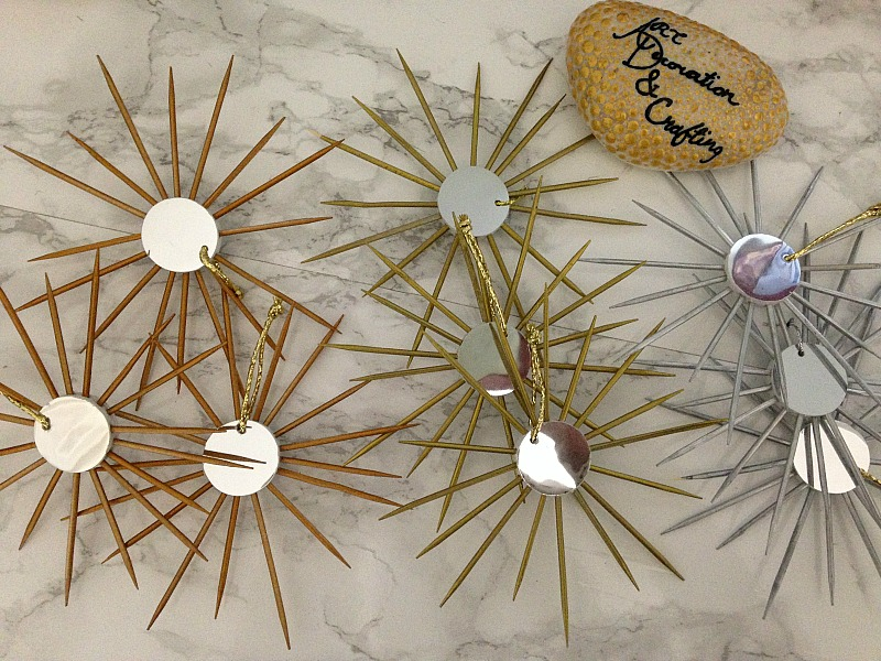 Sunburst mirror ornaments diy