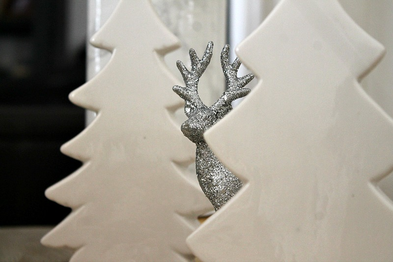 Christmas 2015, white porselain trees, silver deer