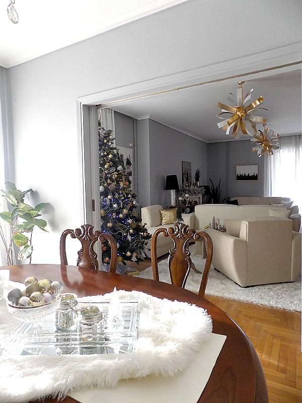 Christmas living room view
