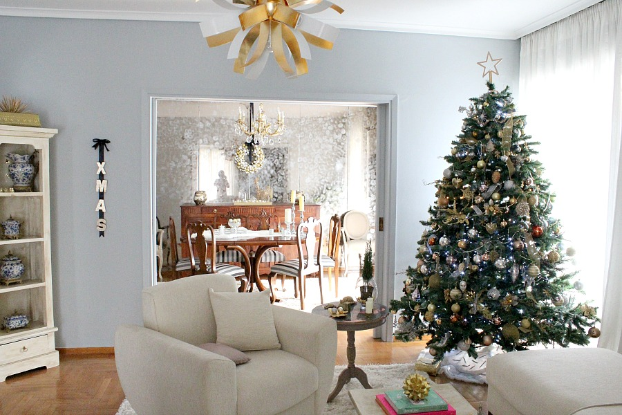 Christmas living room, dining room decor ideas