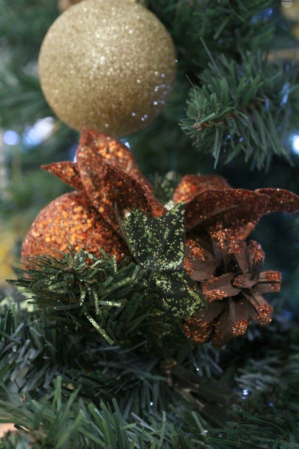 Christmas tree copper and gold