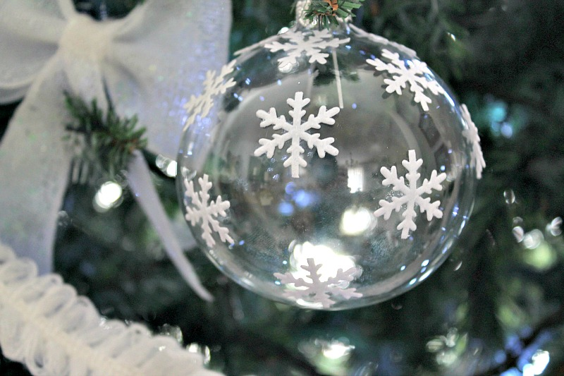 Clear christmas ball