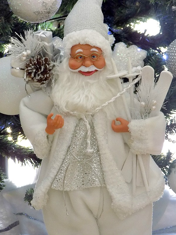 White and silver santa claus