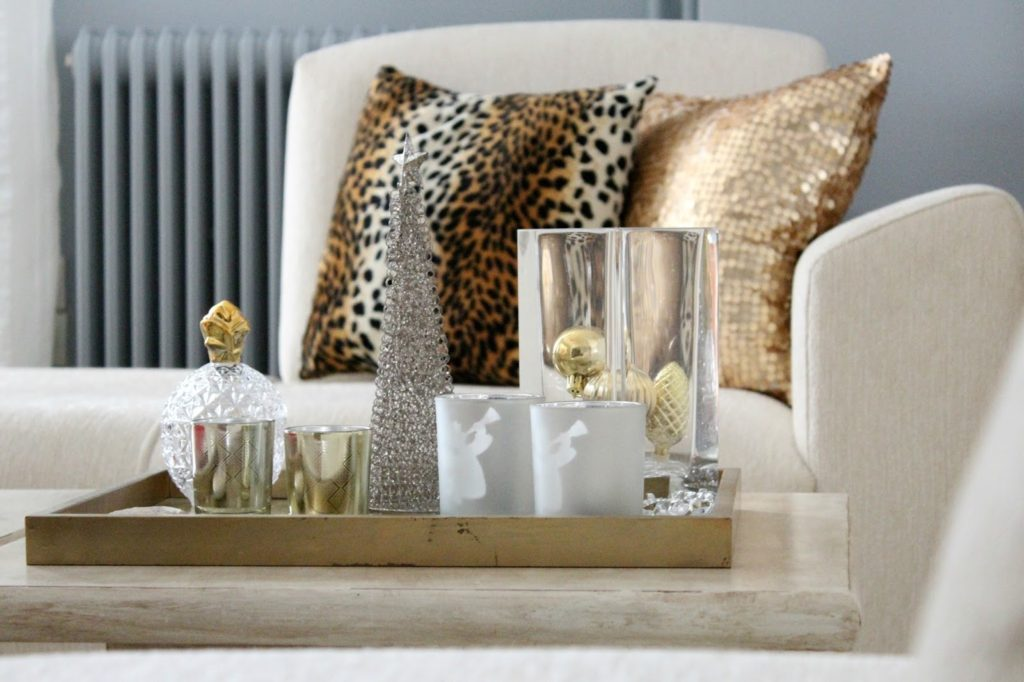 Leopard pillow, gold pillow