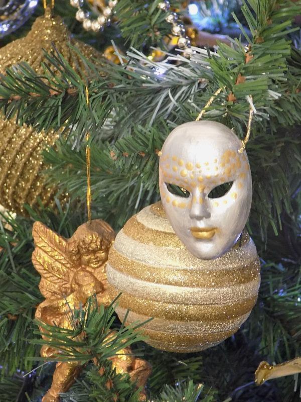 Βενετσιάνικη μάσκα χριστουγεννιάτικο στολίδι