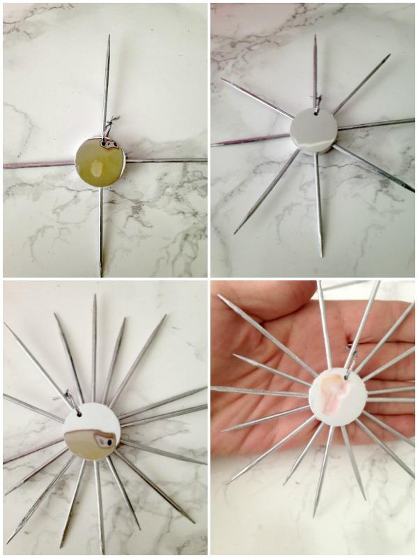 Πως να φτιάξεις sunburst καθρεφτάκια στολίδια