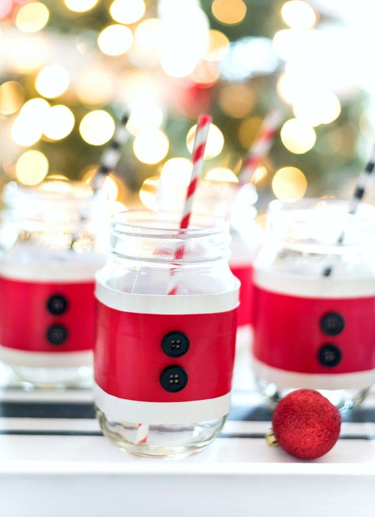 Sweet Inspiration Link party 138, Santa suit mason jar