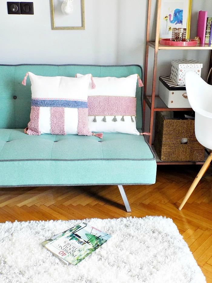Ιδέες για διακοσμητικές θήκες μαξιλαριών diy, Anthropologie inspired no sew pillows