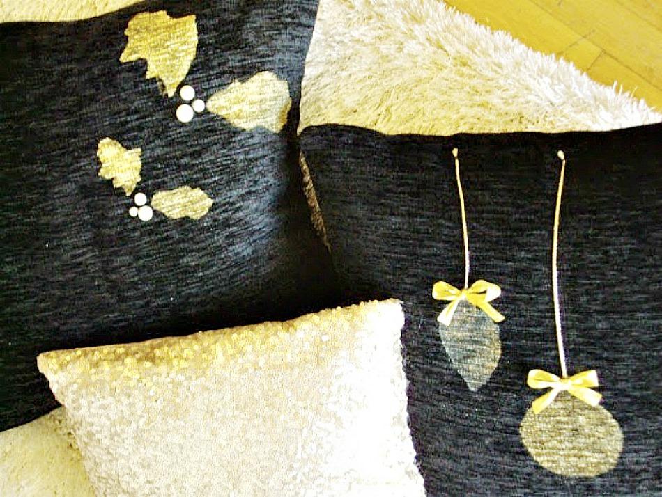 Ιδέες για διακοσμητικές θήκες μαξιλαριών diy, christmas pillows