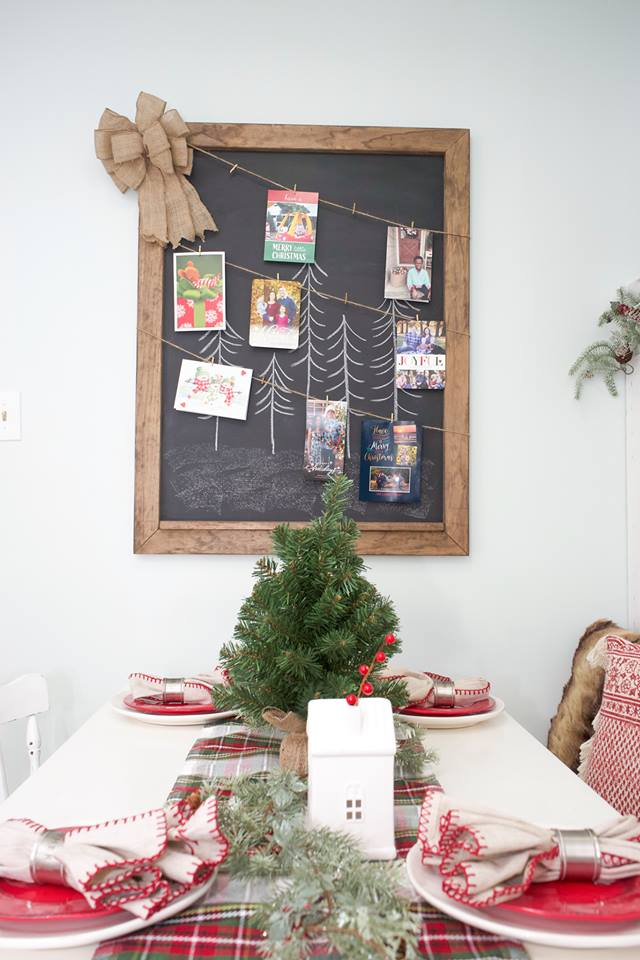 Sweet Inspiration Link party 138, christmas card display