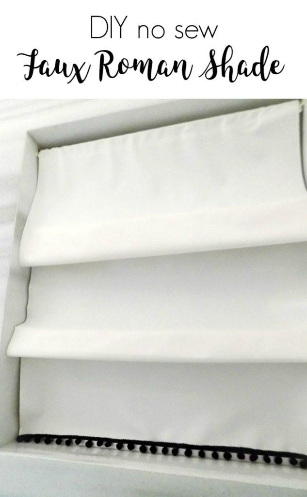 Πως να κρύψουμε ένα άσχημο παράθυρο με faux roman κουρτίνα, diy no sew faux roman shade