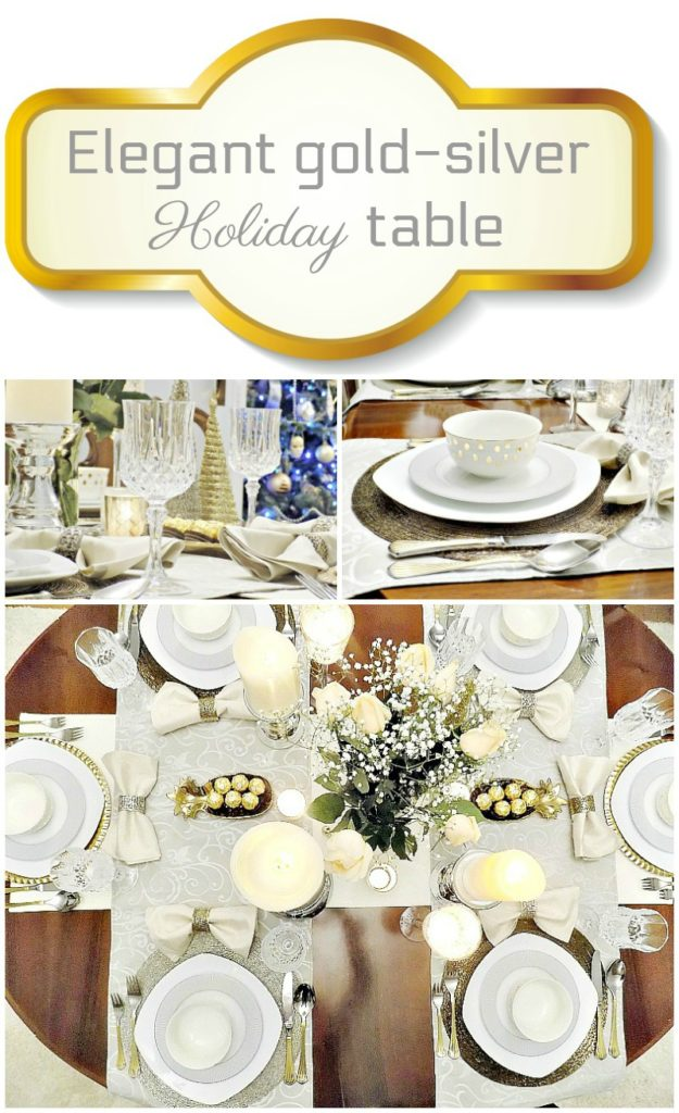 Elegant gold-silver Holiday table