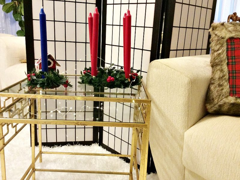 Χριστουγεννιάτικα κηροπήγια από τελάρα κεντήματος