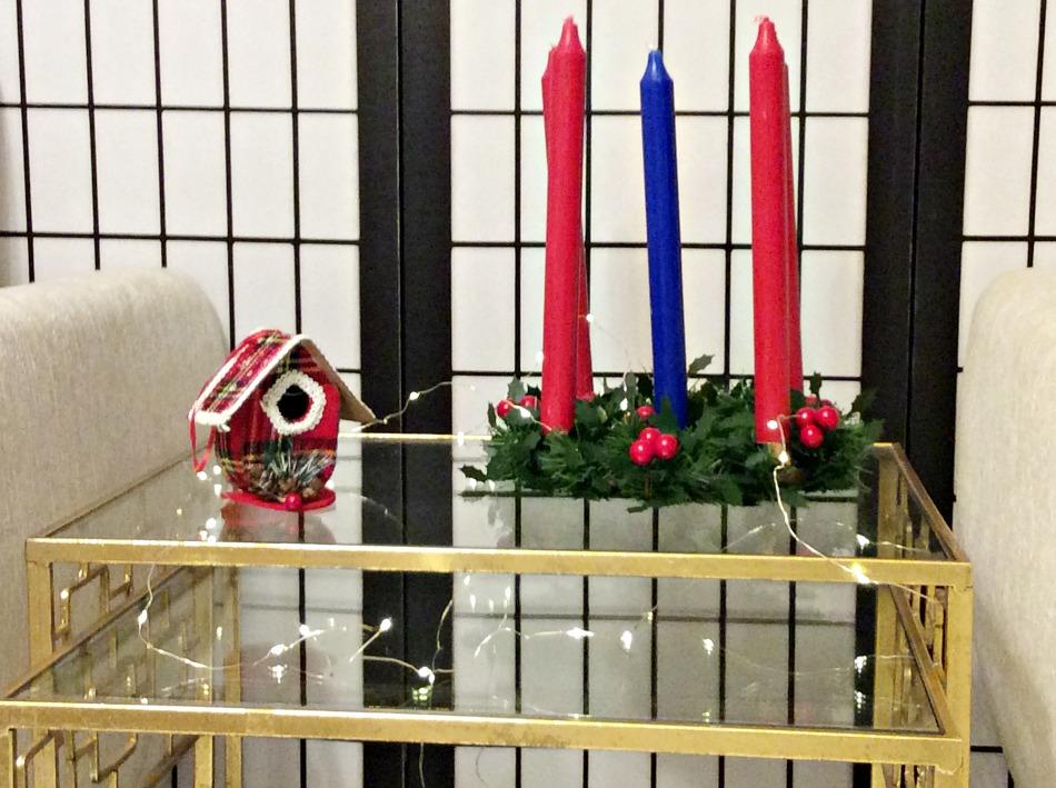 Χριστουγεννιάτικα κηροπήγια φτιαγμένα εύκολα και γρήγορα από τελάρα κεντήματος