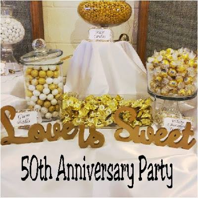 Sweet Inspiration Link Party 140, love is sweet 50th anniversary party