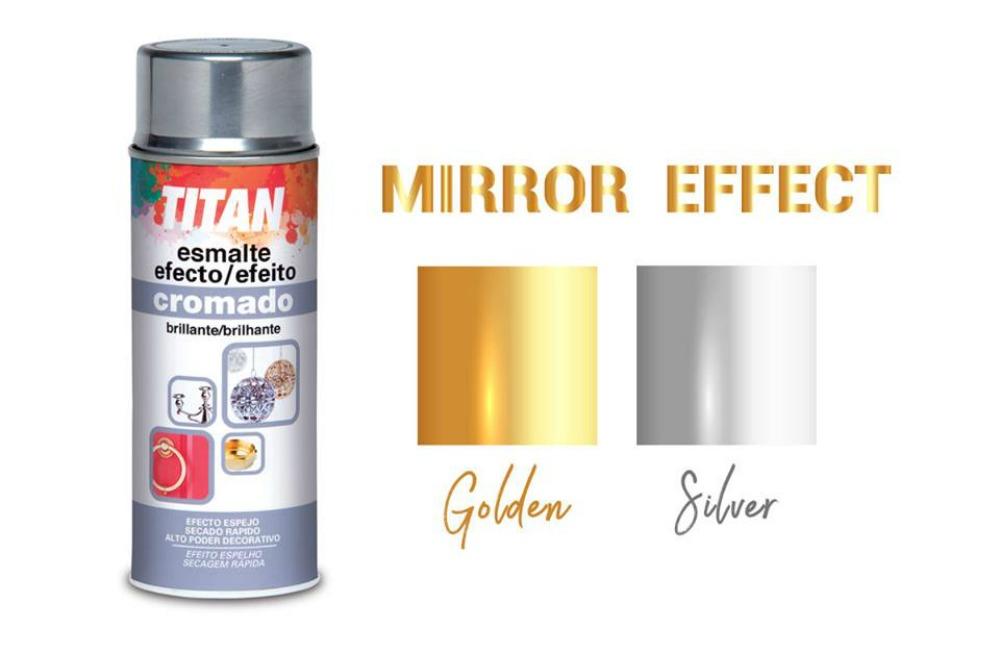 Titan spray mirror effect