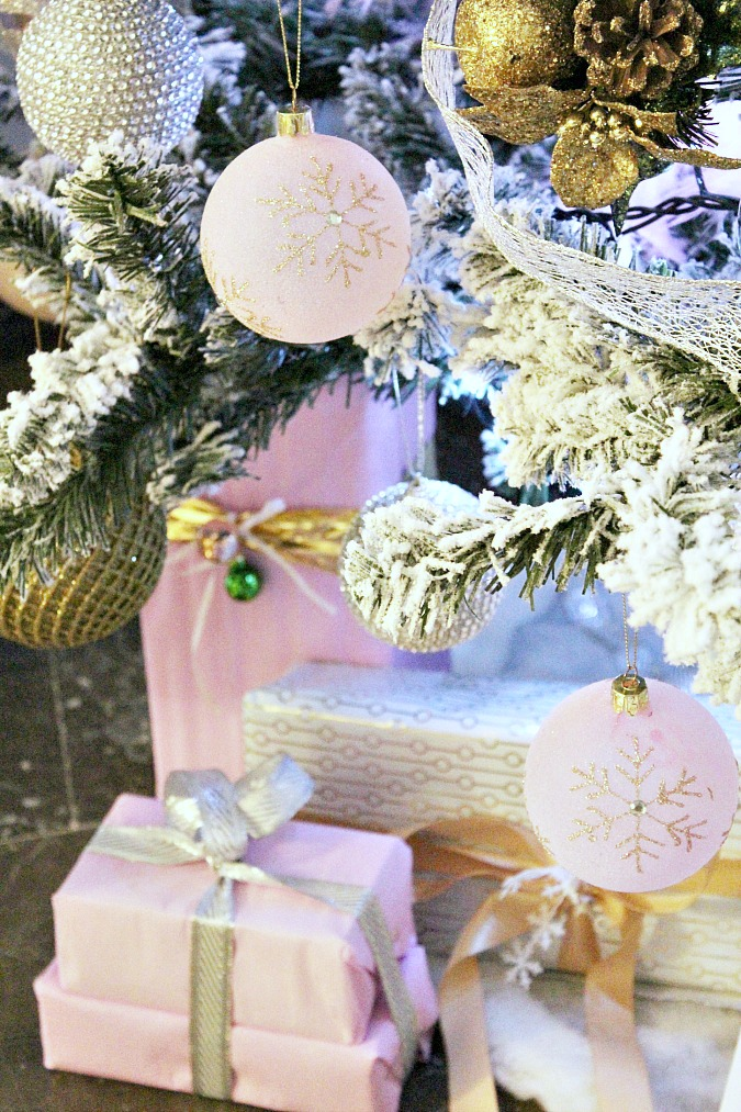 Pink, white, gold, silver christmas tree
