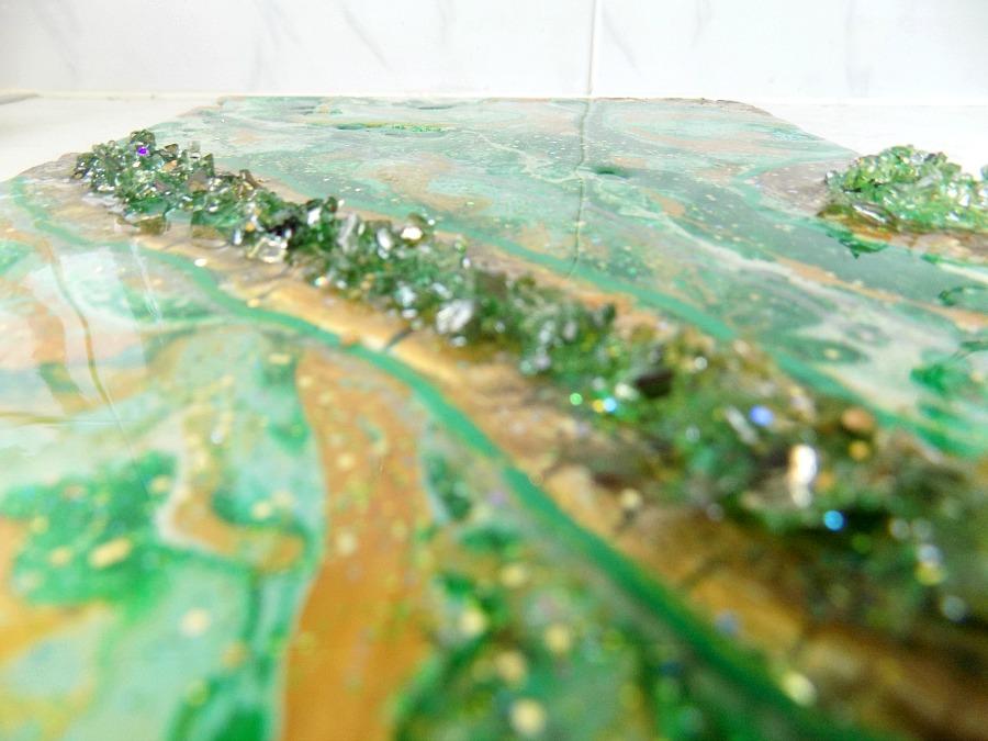 Ζωγραφική με dirty pouring, acrylic colors, floetrol, epoxy resin