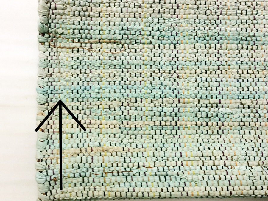 How to sew the rag rug bag
