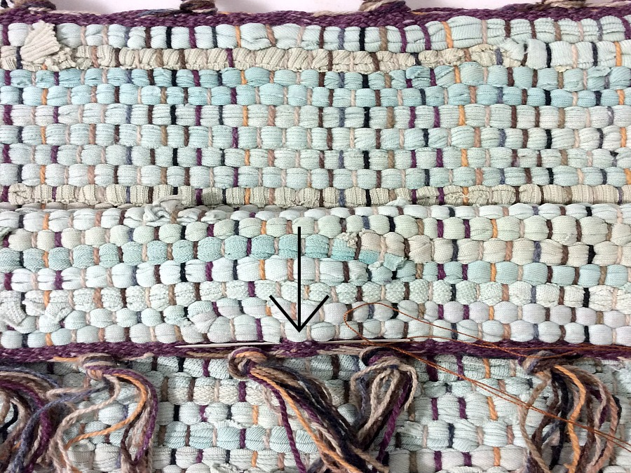 How to sew the rag rug