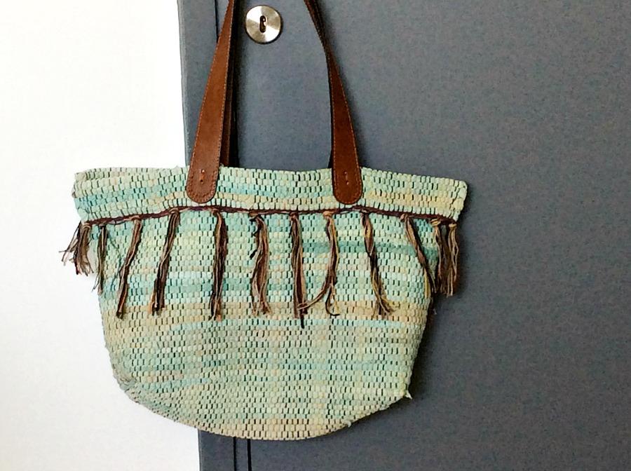 Boho τσάντα από κουρελού, My boho rag rug bag