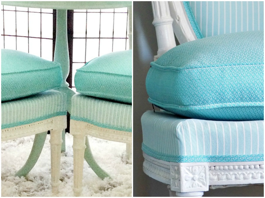 Ανοιξιάτικη εμφάνιση σε καρέκλες και τραπεζάκι με χαρούμενα χρώματα