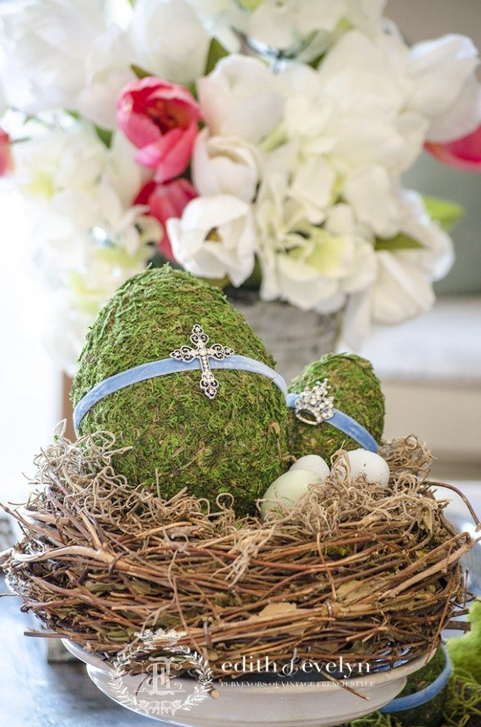 DIY moss easter eggs