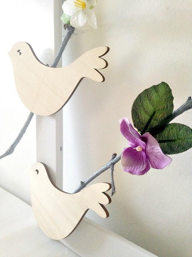 Πως να φτιάξουμε ένα παιδικό καδράκι με κλαδιά και πουλάκια