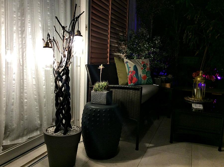 Φωτιστικό δαπέδου από κορμό - Floor lighting diy