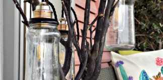 Φωτιστικό δαπέδου από κορμό