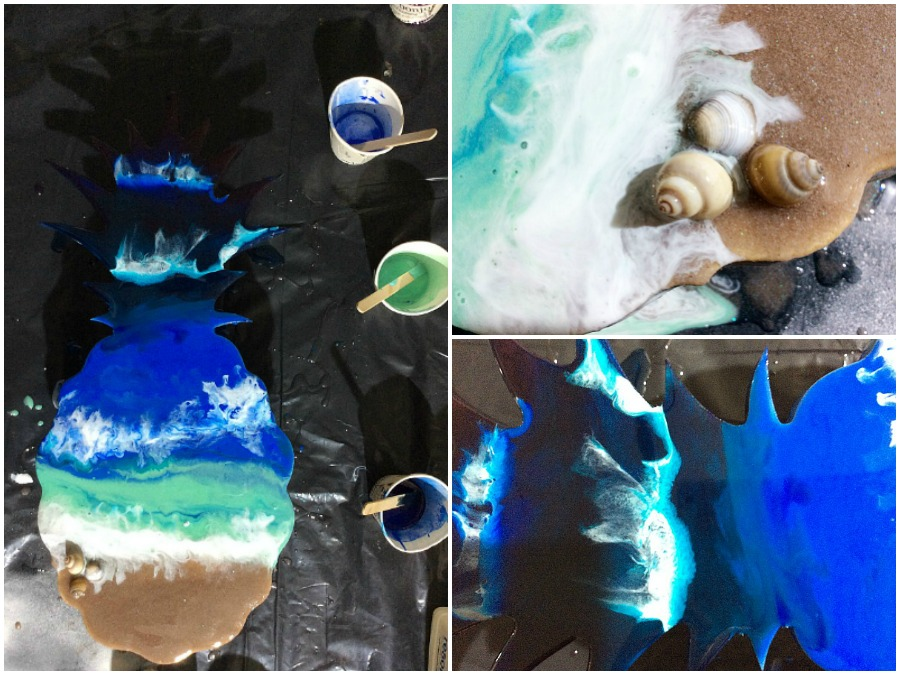 How to create waves on a beach with epoxy resin