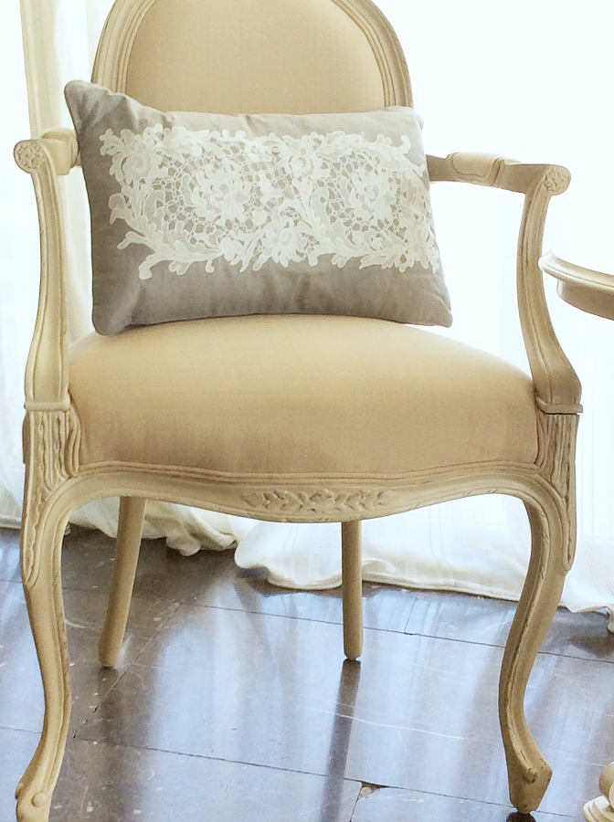 White cream chair