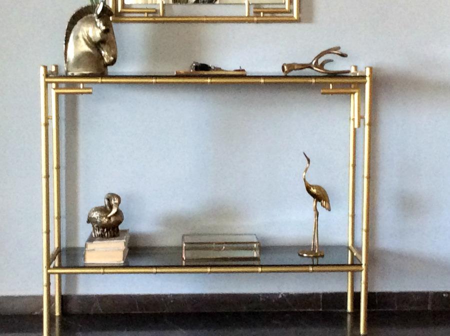 Μεταλλικό σετ εισόδου βαμένο με Acualux χρυσό