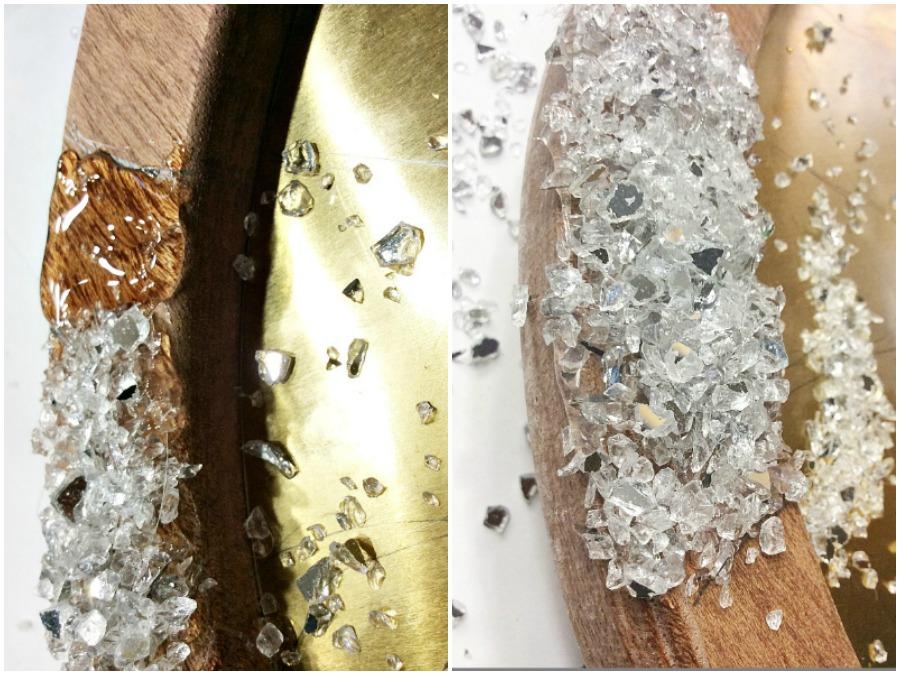 Κρύσταλλα καθρέφτες κολημένα με θερμοκόλληση