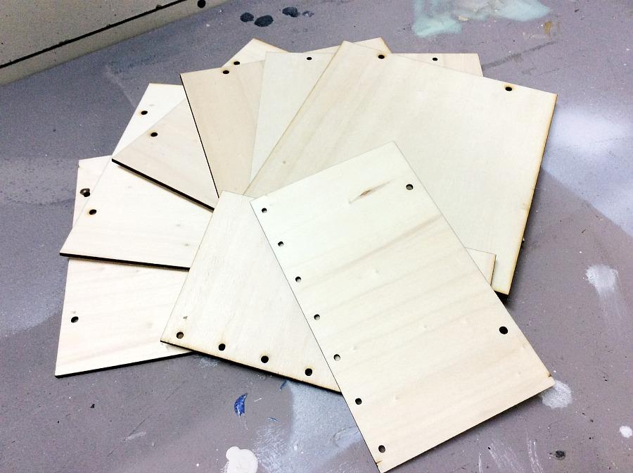 Πλακάκια σημύδας για ξύλινο ράνερ